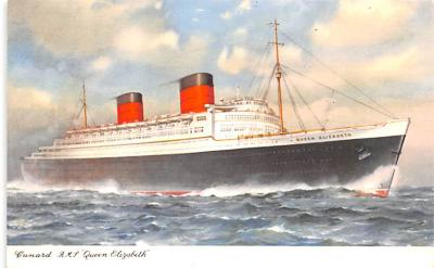 shp010519 - White Star Line Cunard Ship Post Card, Old Vintage Antique Postcard