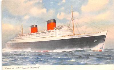 shp010523 - White Star Line Cunard Ship Post Card, Old Vintage Antique Postcard