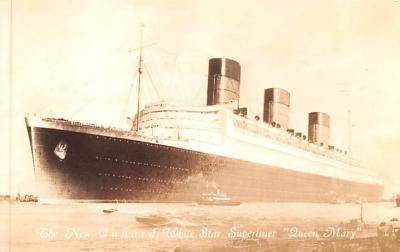 shp010527 - White Star Line Cunard Ship Post Card, Old Vintage Antique Postcard