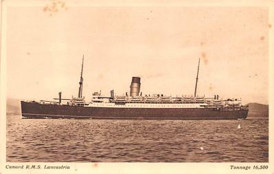 shp010529 - White Star Line Cunard Ship Post Card, Old Vintage Antique Postcard
