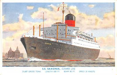 shp010531 - White Star Line Cunard Ship Post Card, Old Vintage Antique Postcard