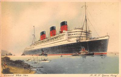 shp010551 - White Star Line Cunard Ship Post Card, Old Vintage Antique Postcard