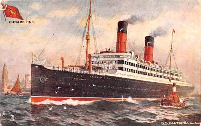 shp010561 - White Star Line Cunard Ship Post Card, Old Vintage Antique Postcard