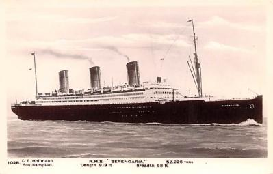 shp010569 - White Star Line Cunard Ship Post Card, Old Vintage Antique Postcard
