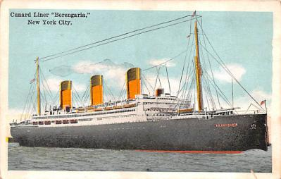 shp010579 - White Star Line Cunard Ship Post Card, Old Vintage Antique Postcard