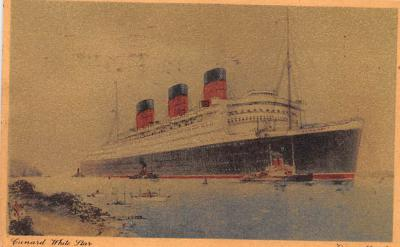 shp010591 - White Star Line Cunard Ship Post Card, Old Vintage Antique Postcard