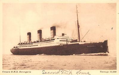 shp010599 - White Star Line Cunard Ship Post Card, Old Vintage Antique Postcard