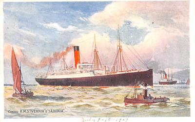 shp010607 - White Star Line Cunard Ship Post Card, Old Vintage Antique Postcard