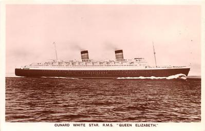 shp010611 - White Star Line Cunard Ship Post Card, Old Vintage Antique Postcard