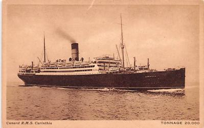 shp010613 - White Star Line Cunard Ship Post Card, Old Vintage Antique Postcard