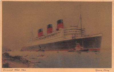 shp010619 - White Star Line Cunard Ship Post Card, Old Vintage Antique Postcard