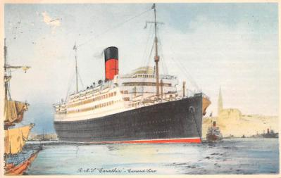 shp010623 - White Star Line Cunard Ship Post Card, Old Vintage Antique Postcard