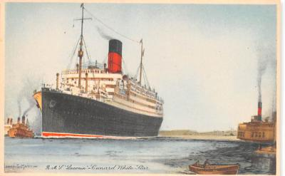 shp010627 - White Star Line Cunard Ship Post Card, Old Vintage Antique Postcard