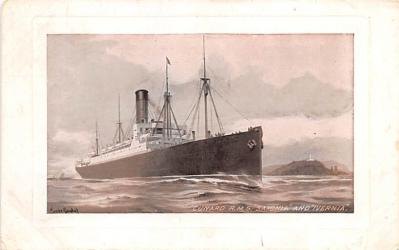shp010633 - White Star Line Cunard Ship Post Card, Old Vintage Antique Postcard