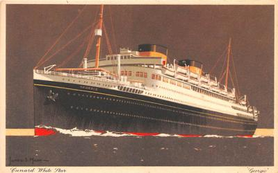 shp010637 - White Star Line Cunard Ship Post Card, Old Vintage Antique Postcard