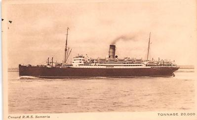 shp010643 - White Star Line Cunard Ship Post Card, Old Vintage Antique Postcard