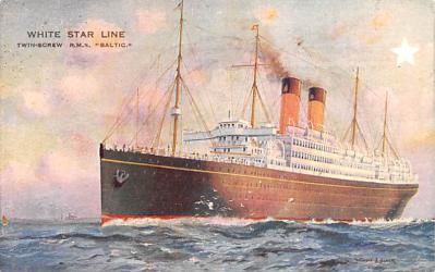 shp010651 - White Star Line Cunard Ship Post Card, Old Vintage Antique Postcard