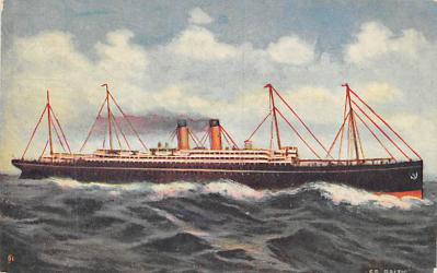 shp010659 - White Star Line Cunard Ship Post Card, Old Vintage Antique Postcard