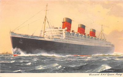 shp010667 - White Star Line Cunard Ship Post Card, Old Vintage Antique Postcard