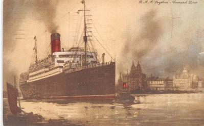 shp010669 - White Star Line Cunard Ship Post Card, Old Vintage Antique Postcard