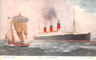 shp010689 - White Star Line Cunard Ship Post Card, Old Vintage Antique Postcard