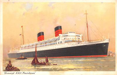shp010697 - White Star Line Cunard Ship Post Card, Old Vintage Antique Postcard