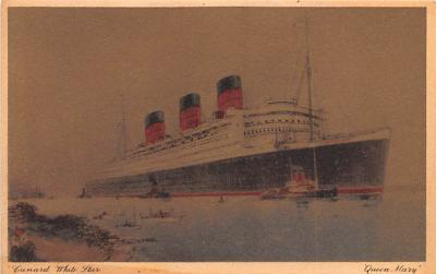 shp010699 - White Star Line Cunard Ship Post Card, Old Vintage Antique Postcard