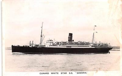 shp010729 - White Star Line Cunard Ship Post Card, Old Vintage Antique Postcard