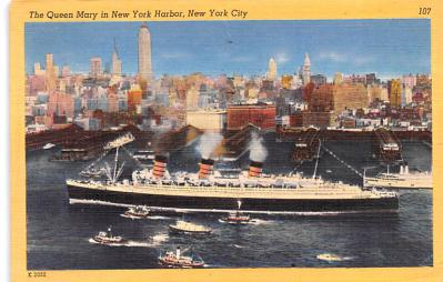 shp010731 - White Star Line Cunard Ship Post Card, Old Vintage Antique Postcard