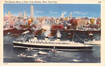 shp010735 - White Star Line Cunard Ship Post Card, Old Vintage Antique Postcard