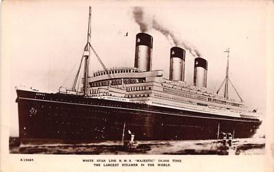 shp010737 - White Star Line Cunard Ship Post Card, Old Vintage Antique Postcard