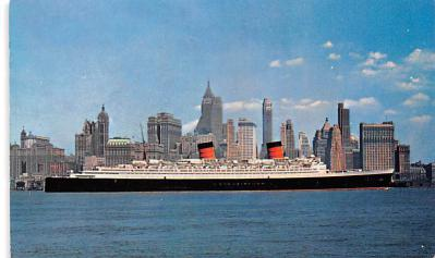 shp010741 - White Star Line Cunard Ship Post Card, Old Vintage Antique Postcard