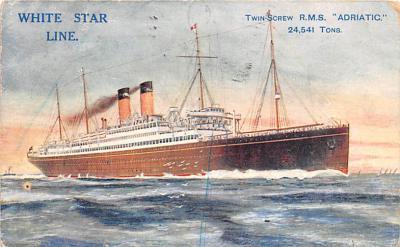 shp010755 - White Star Line Cunard Ship Post Card, Old Vintage Antique Postcard