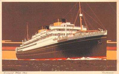 shp010759 - White Star Line Cunard Ship Post Card, Old Vintage Antique Postcard