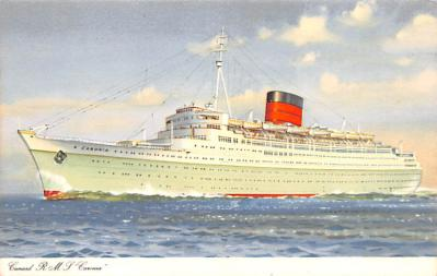 shp010761 - White Star Line Cunard Ship Post Card, Old Vintage Antique Postcard