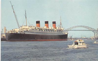 shp010763 - White Star Line Cunard Ship Post Card, Old Vintage Antique Postcard