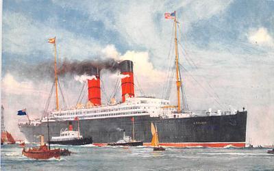 shp010765 - White Star Line Cunard Ship Post Card, Old Vintage Antique Postcard