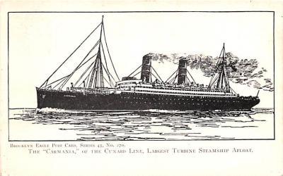 shp010767 - White Star Line Cunard Ship Post Card, Old Vintage Antique Postcard