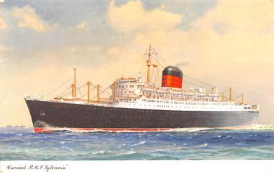 shp010769 - White Star Line Cunard Ship Post Card, Old Vintage Antique Postcard