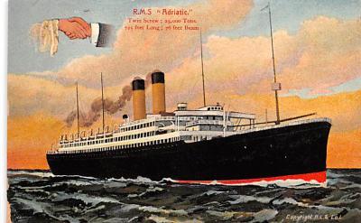 shp010773 - White Star Line Cunard Ship Post Card, Old Vintage Antique Postcard