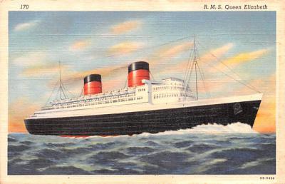 shp010775 - White Star Line Cunard Ship Post Card, Old Vintage Antique Postcard