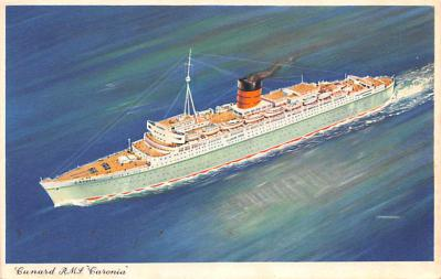 shp010777 - White Star Line Cunard Ship Post Card, Old Vintage Antique Postcard