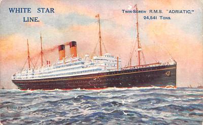 shp010779 - White Star Line Cunard Ship Post Card, Old Vintage Antique Postcard