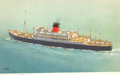 shp010781 - White Star Line Cunard Ship Post Card, Old Vintage Antique Postcard