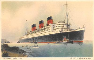 shp010783 - White Star Line Cunard Ship Post Card, Old Vintage Antique Postcard