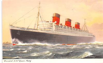 shp010789 - White Star Line Cunard Ship Post Card, Old Vintage Antique Postcard