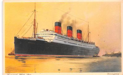 shp010793 - White Star Line Cunard Ship Post Card, Old Vintage Antique Postcard