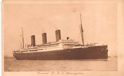 shp010795 - White Star Line Cunard Ship Post Card, Old Vintage Antique Postcard