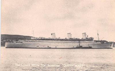 shp010797 - White Star Line Cunard Ship Post Card, Old Vintage Antique Postcard