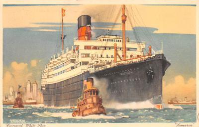 shp010799 - White Star Line Cunard Ship Post Card, Old Vintage Antique Postcard